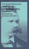 Friedrich Nietzsche - Afgemat als een eendagsvlieg bij avond kunstwerk