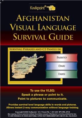 Afghanistan Visual Language Survival Guide 3 Languages on