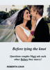 Roberta Cava - Before Tying the Knot: Questions Couples Must Ask Each Other Before They Marry! artwork