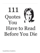 111 Quotes You Have to Read Before You Die
