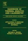Handbook Of Thermal Analysis And Calorimetry