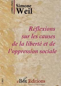 Réflexions sur les causes de la liberté et de l'oppression sociale La couverture du livre martien