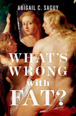 What's Wrong with Fat? - Abigail C. Saguy book