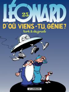 Léonard - tome 25 - D'oů viens-tu, génie ? La couverture du livre martien