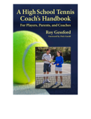 A High School Tennis Coach's Handbook