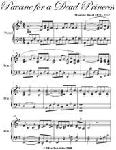 Pavane for a Dead Princess Easy Intermediate Piano Sheet Music
