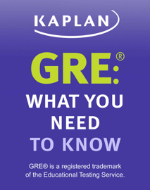 GRE: What You Need to Know book