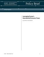 Leveraging Europe's International Economic Power