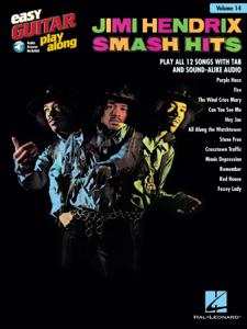 Jimi Hendrix - Smash Hits Songbook La couverture du livre martien