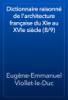 Eugène-Emmanuel Viollet-le-Duc - Dictionnaire raisonné de l'architecture française du XIe au XVIe siècle (8/9) artwork