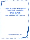 Exodus 20 Verses 8 Through 11  Choral Music-with Solfege