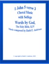 1 John 5verse 3  Choral Music With Solfege
