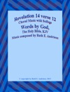 Revelation 14 Verse 12 Piano Sheet Music-Choral Music With Solfege