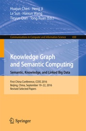 Knowledge Graph And Semantic Computing Semantic Knowledge And Linked Big Data