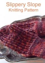 Slippery Slope Mitten Knitting Pattern