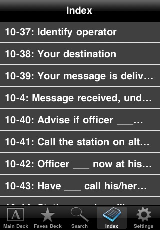 Police Scanner Codes screenshot-2