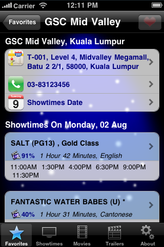 Screenshot #2 pour CineApps Malaysia