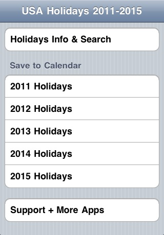 USA Holidays Calendar 2011-2015. screenshot-4