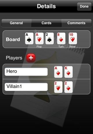 Poker Notebook screenshot three