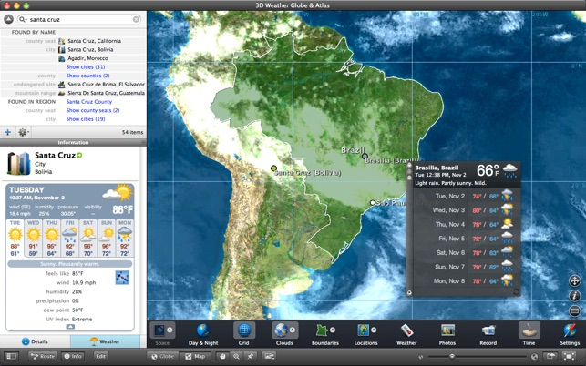 3d weather globe atlas deluxe on the mac app store screenshots gumiabroncs Image collections