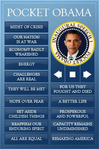 Pocket Obama - Inauguration Edition