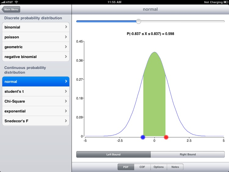 Statistics Visualizer for iPad