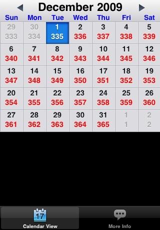 Julian Day Calendar