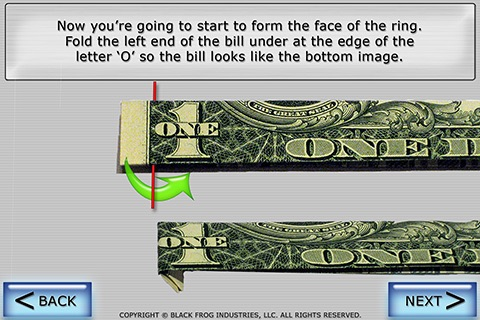 Dollar Ring Origami screenshot-4