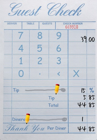 TapTapTip - Tip Calculator - Eat out, hassle-free