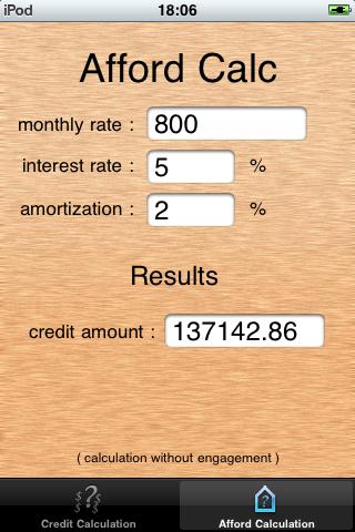 ImoCalc screenshot two