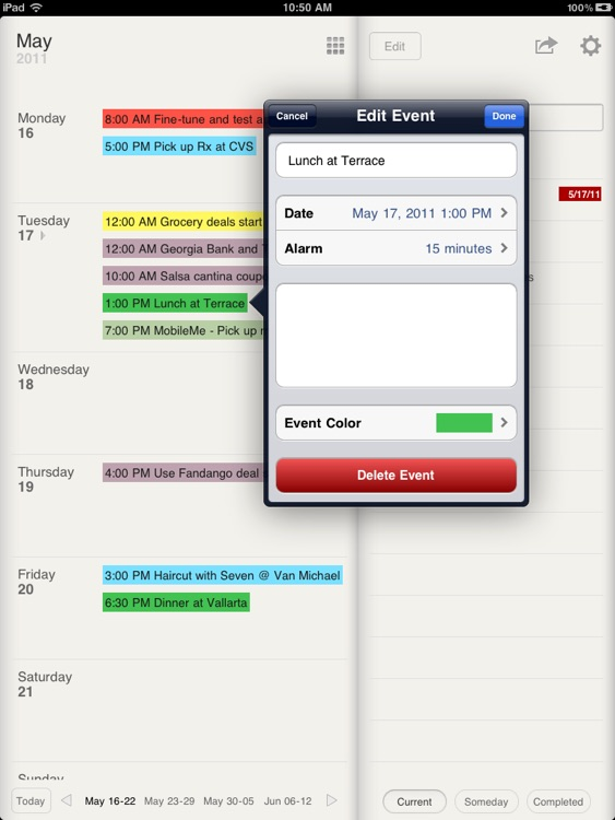 Planner for iPad - Weekly Calendar and Tasks screenshot-4