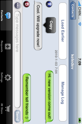 Screenshots of iMessenger - Real Communication for iPhone for iPhone