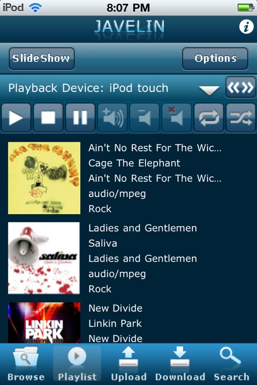 Patriot Javelin Live DLNA Digital Media App screenshot-3
