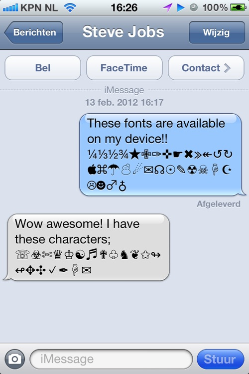 Characters 2012 - extra symbols, emoji and ascii chars screenshot-1