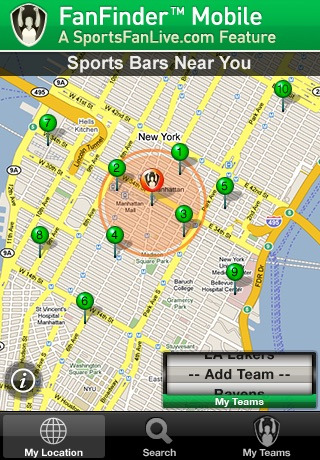 FanFinder - Sports Bar Locator