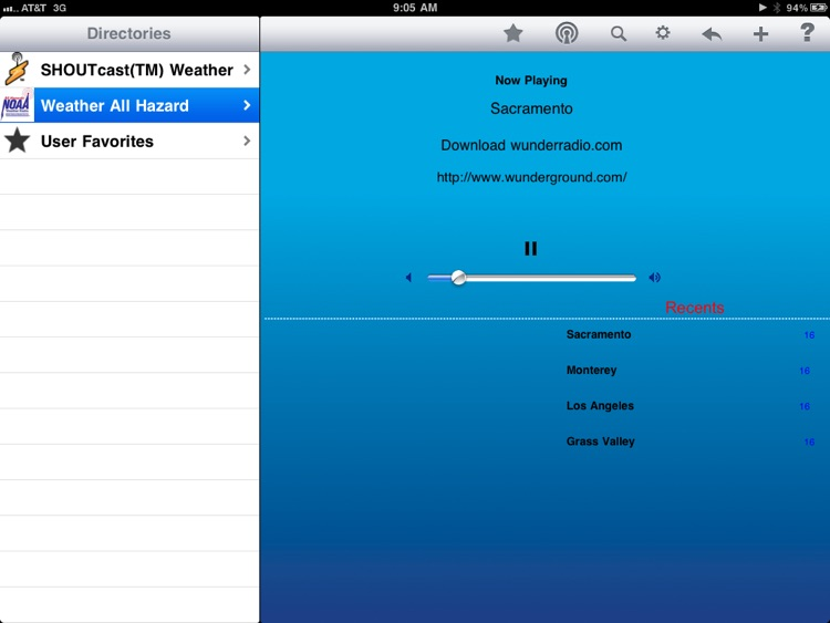 Weather Radio - iPad Edition