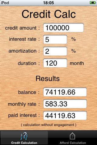 ImoCalc screenshot one