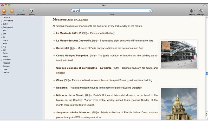 Wikitravel Offline Screenshot