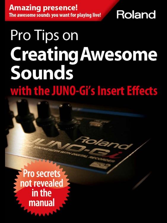 JUNO-Gi Insert Effects Guidebook