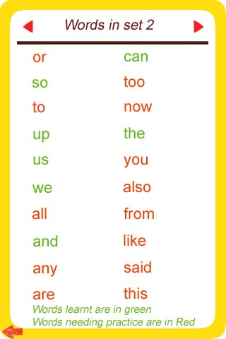 Sight Words Flashcard Lite Free - for kids in preschool, pre-k, kindergarten and grade school screenshot-3