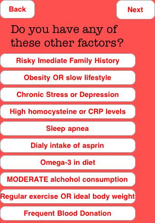 Heart Disease Risk Calculator screenshot 3