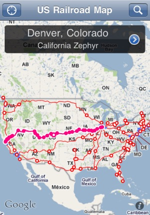 US Railroad Map on the App Store
