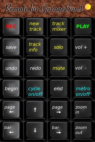 Remote for GarageBand