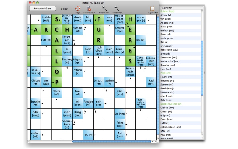 Englisch lernen mit Kreuzworträtseln screenshot 2