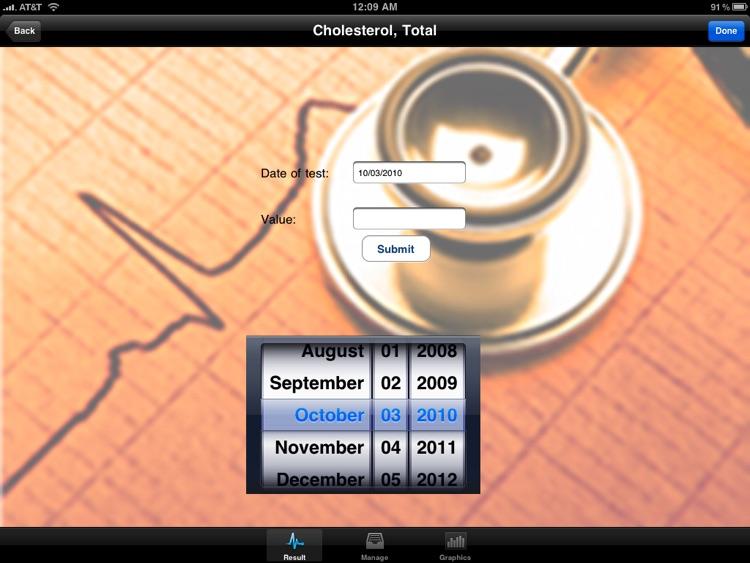 "Blood Test Monitor ""for iPad"" Lite screenshot-3"
