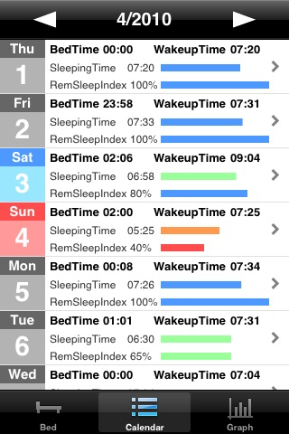 Sleep Log Recorder