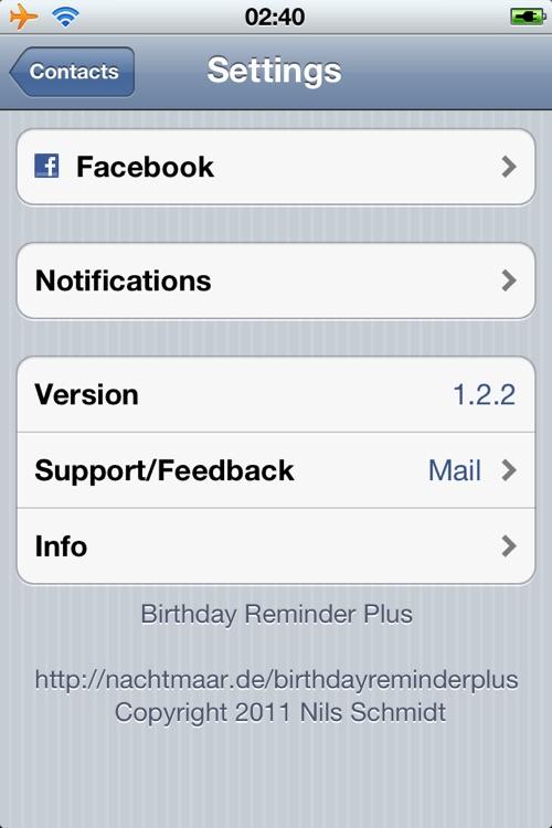 Birthday Reminder Plus screenshot-4