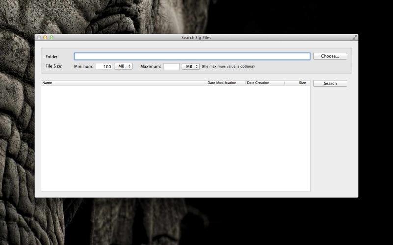 Search Big Files скриншот программы 1