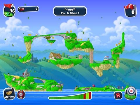 Worms Crazy Golf HD на iPad