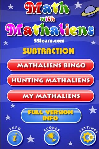 Basic Math with Mathaliens Lite screenshot-4